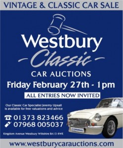 Classic Car Auction - Friday 27th Feb at 1pm